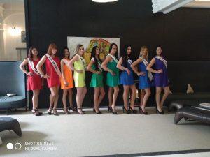 Le aspiranti miss del concorso Miss Trans Star Uruguay 2018